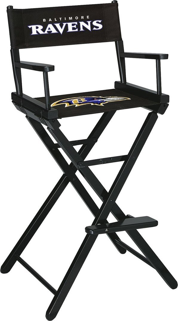 Imperial Officially Licensed NFL Merchandise: Directors Chair (Tall, Bar Height), Baltimore Ravens