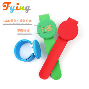Best promotional cheap hand watch for children, Children kids led digital silicone slap band bracelet watch