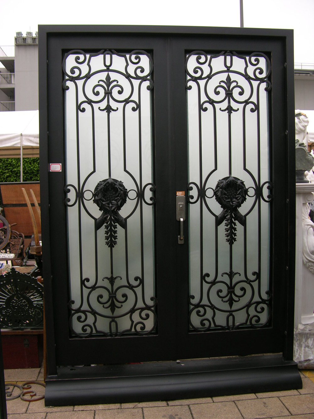 Double entry custom metal door exterior forged entry china for Custom made exterior steel doors