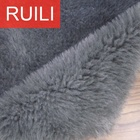 20mm pile height 100 polyester cheap knitted artificial faux fur fabric for shoes lining
