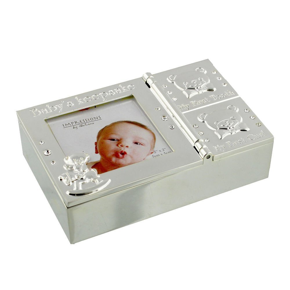 Buy 4 New Baby First Curl Silver Plated Keepsake Boxes With