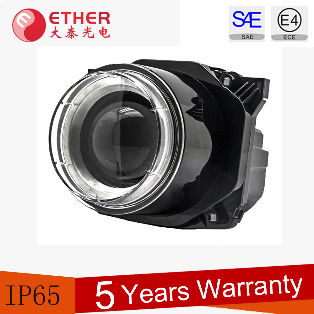 ECE/DOT/SAE 90mm round LED Headlight for bus,trucks and motor coaches