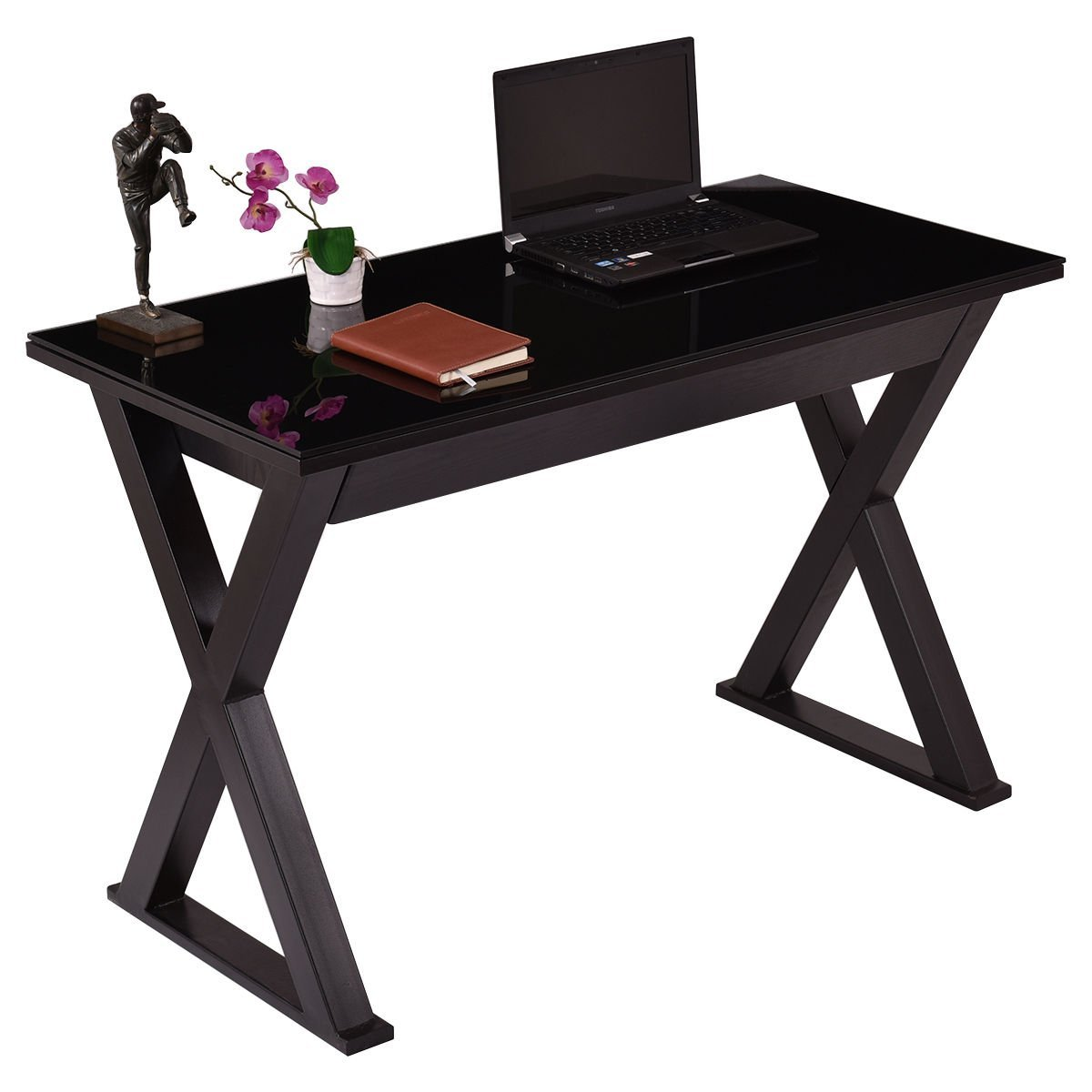 Tempered-Glass-Top-Computer-Desk-PC-Laptop-Table-Writing-Workstation-w-Drawer Tempered-Glass-Top-Computer-Desk-PC-Laptop-Table-Writing-Workstation-w-Drawer Tempered-Glass-Top-Computer-Desk-PC-Lapto