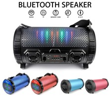 New arrival HK fair showed Wireless led bluetooth speaker and Speaker with Led Light and microphone port