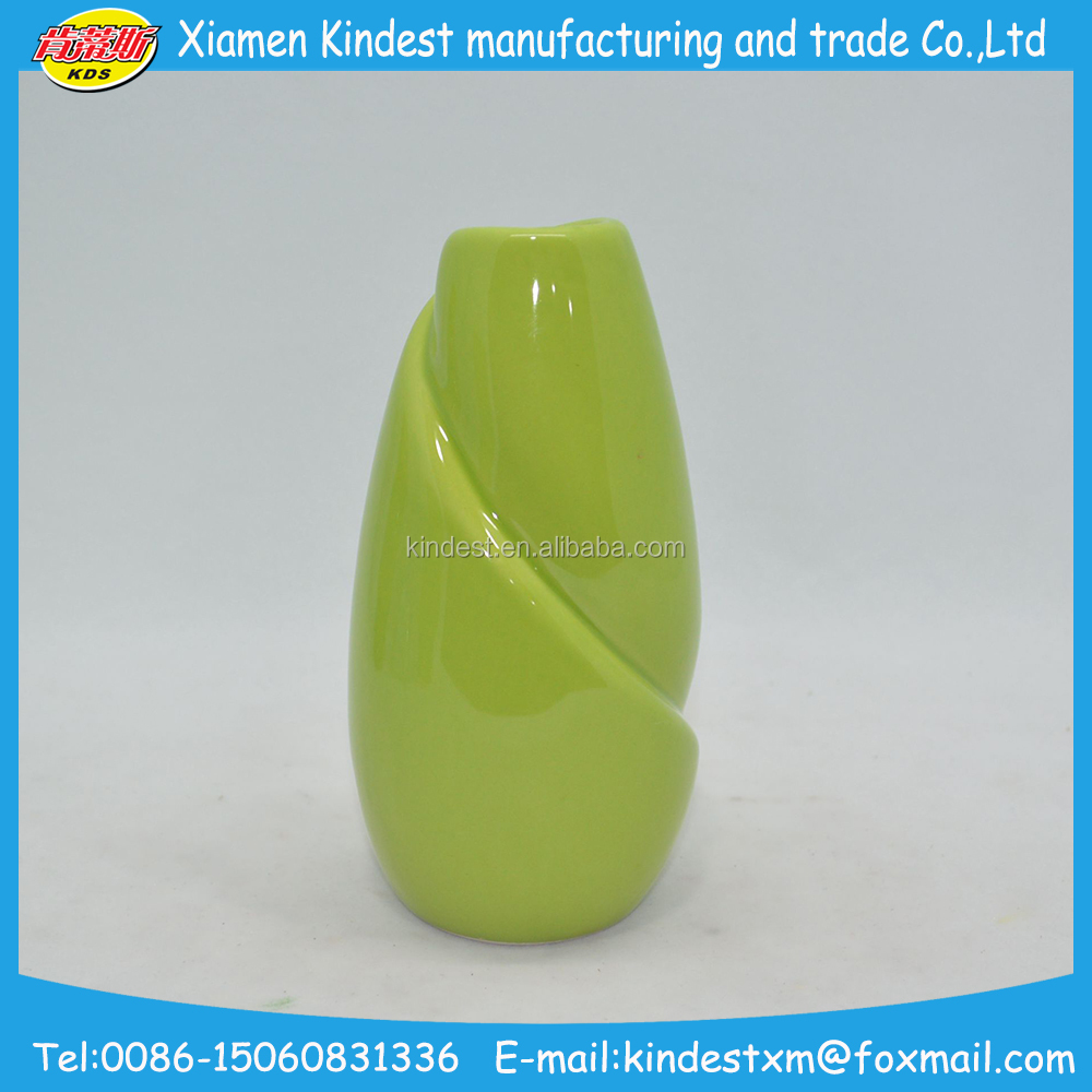 bamboo shaped promotional ceramic glazed flower garden planter pot