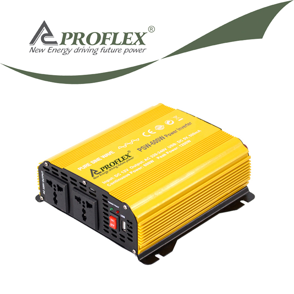 PROFLEX 500W 12V car power inverter with usb port AC outlet socket