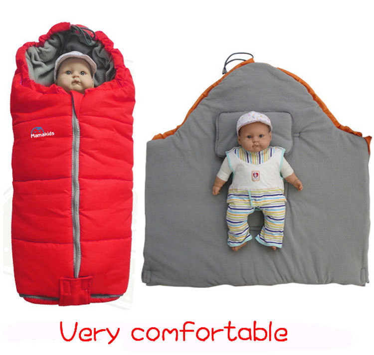 Baby sleeping bag with Pillow newborn envelope sleeping bag for stroller  Sleeping sacks for pram Multifunctional ad64743f0