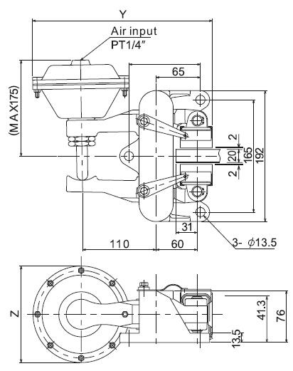 Top Grain Low Price Pneumatic disc brake