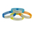 Personalized  Logo Engravable Cheap Buckle Plate Wristband Metal Silicone Custom Bracelet