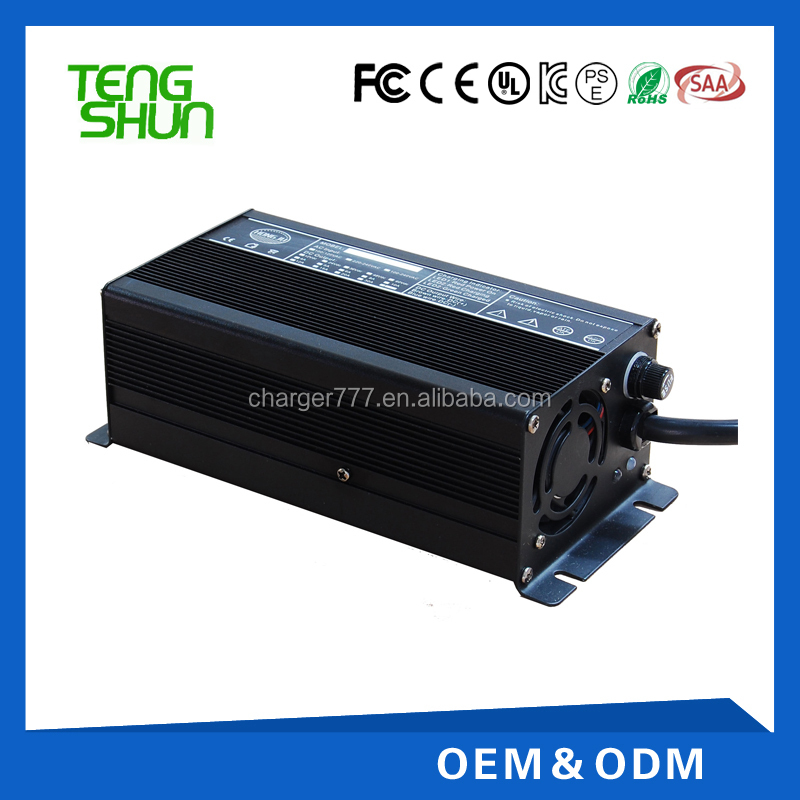 12v 20a lifepo4 battery charger 10a with alu case and cooling fan