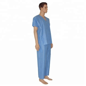 Hospital Unisex Vet Scrub Set Patients Uniforms