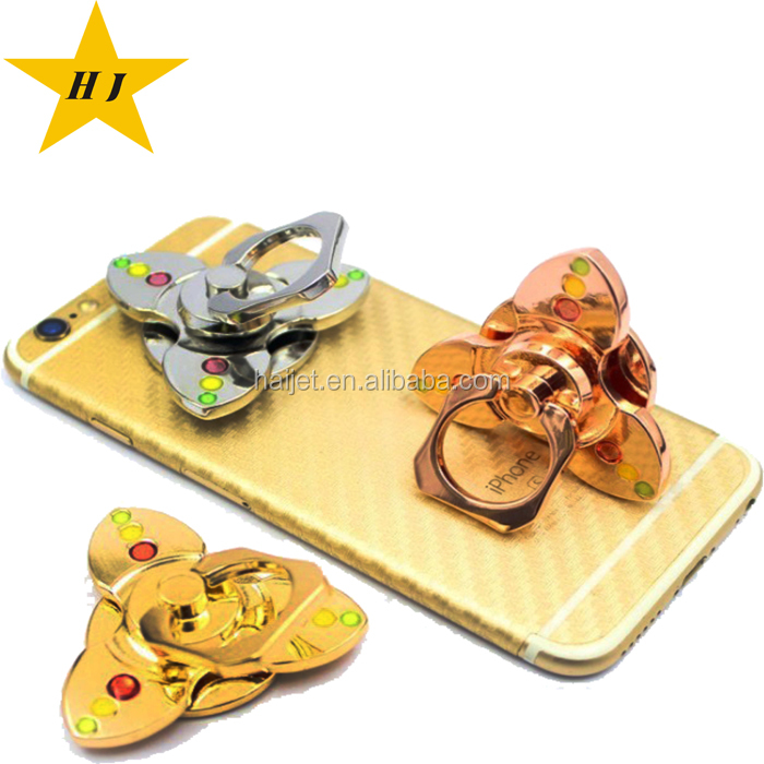 good quality new 2 in 1 hand spinner toys holder mobile phone ring holder spinner