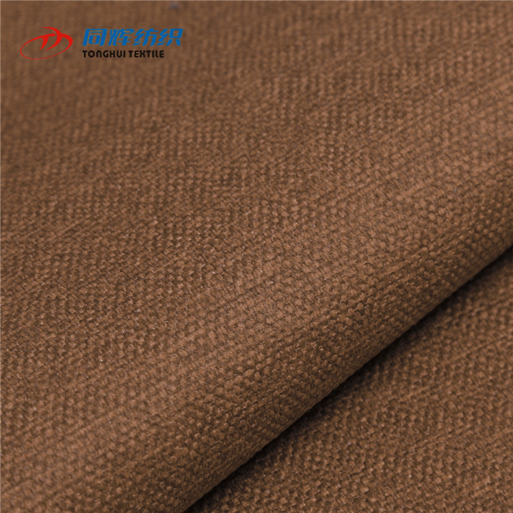 RY2573 OEM Furniture Supplies Linen Sofa Cover Velour Upholstery Fabric for Curtains and Corner Lining Sofa