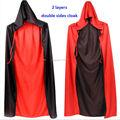Adult Child Halloween Costume Hooded Cloak Wedding Cape Wicca Robe Women Men Death Devil Halloween Cosplay