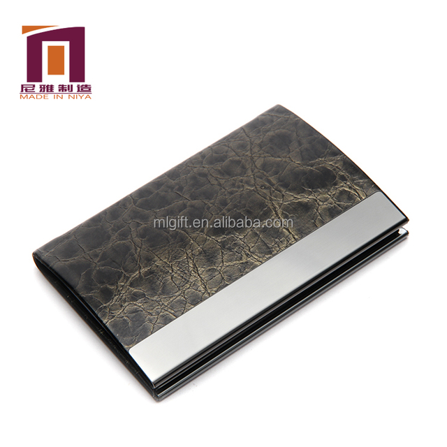 China genuine leather oem card holder wholesale alibaba metal embossed business card holder leather for office colourmoves