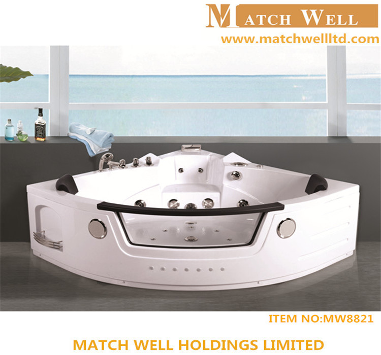 2015 New design indoor portable massage bathtub bathtub with whirlpool air bubble jets