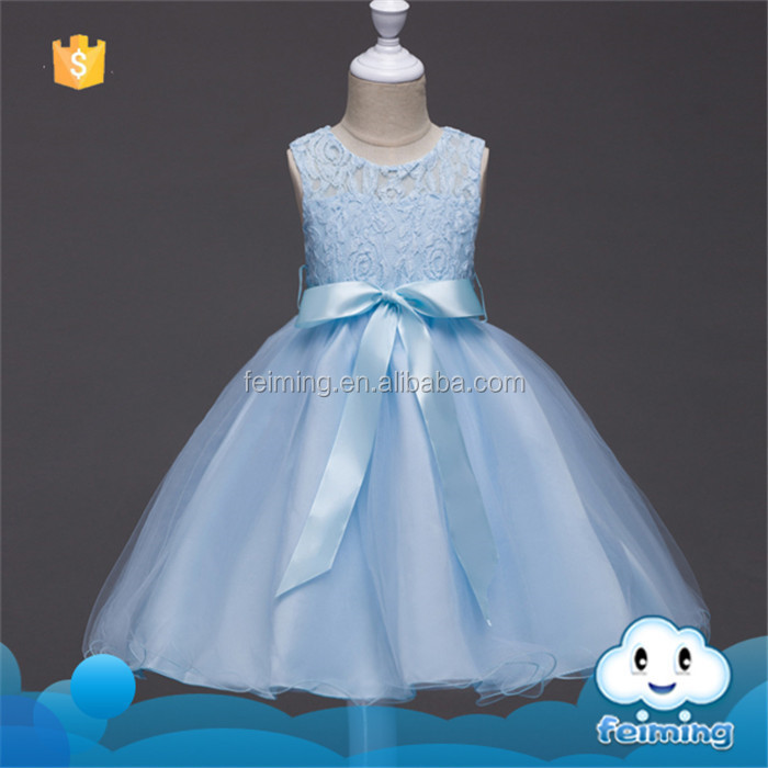 SD-1224G Kids Summer Flowers Toddler Girl Dresses Wedding and Party Baby Clothes Princess Kids Dresses for Girl
