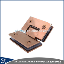 Fashion rose gold color 135degree doouble size glass bathroom door folding hinge