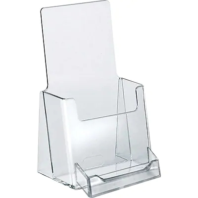 Clear Acrylic Plastic Brochure Holder For Leaflet Display Stand