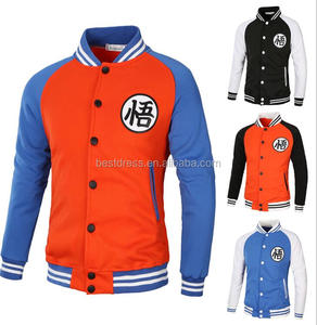 walson Anime Dragon Ball Cosplay Hoodie Casual Bomber Jacket Baseball Coat Sportswear