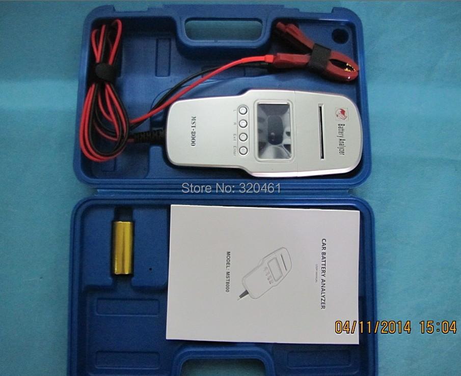 Автомобиль 12 v жк-дисплей цифровой аккумулятор анализатор MST-8000 с встроенный принтер
