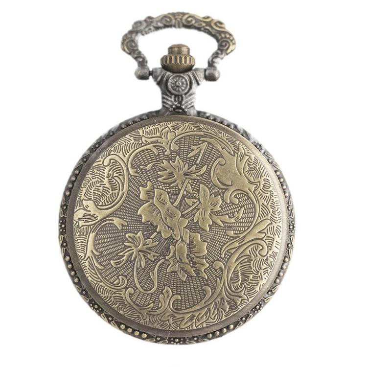 bac4d5c7401 Moda antigo trem relógio de bolso pingente relógios com cadeia retro das  mulheres dos homens do