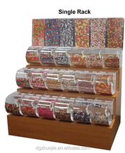 "3-Tier Houten <span class=keywords><strong>Candy</strong></span> Rack-Met 9 ""Bins"