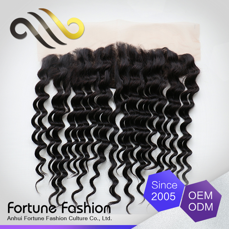 2017 <strong>Black</strong> In 13X4 deep Wave Indian Hair Closure Cheap Human Hair Frontal Lace Closure for Africa women