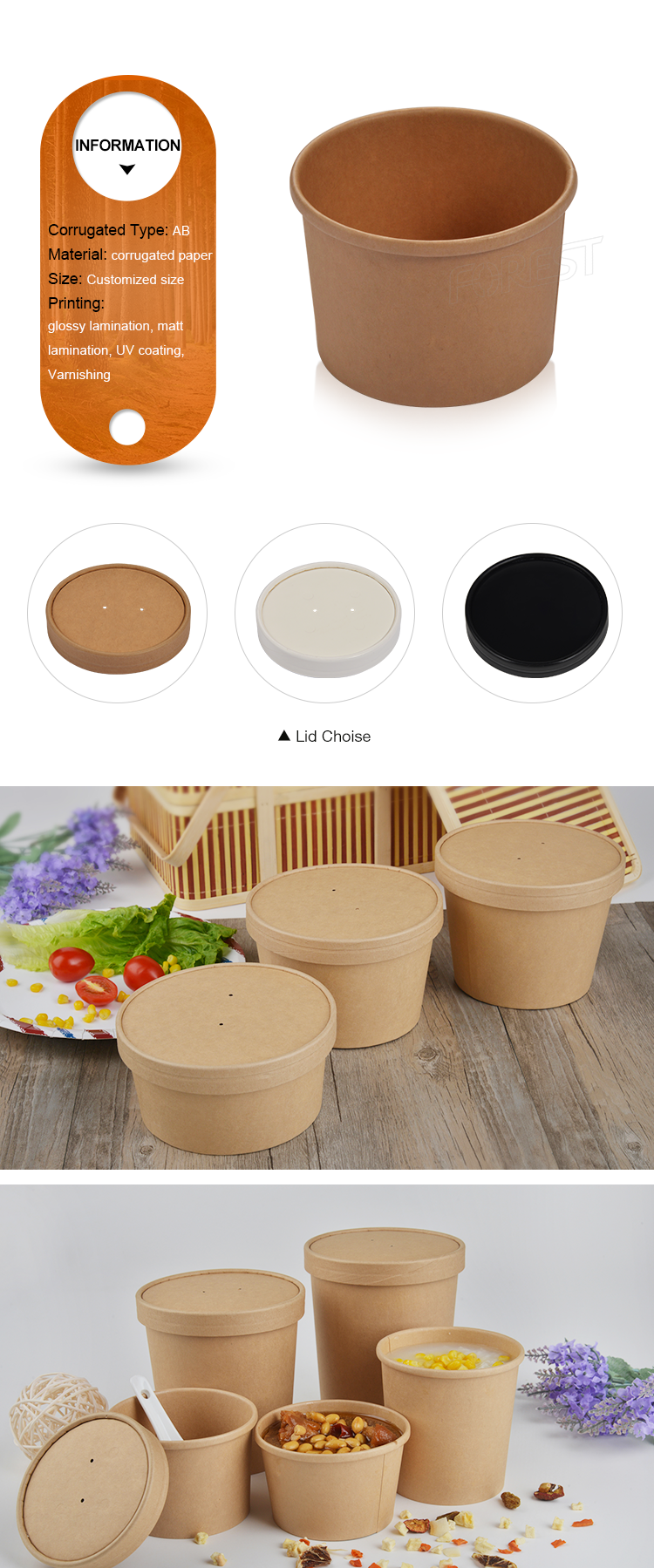 Wholesale chinese custom food lunch take out boxes