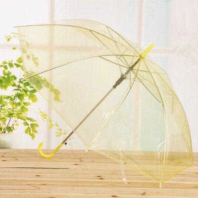Fashion Design Promotion Transparent Paraguas Parapluie Sombrillas Clear PVC TPU Poe Umbrella