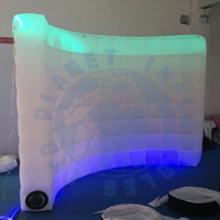 Lighted LED Inflatable Photo booth case inflatable backdrop wall for Photograph