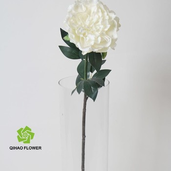 Wedding Flower White Peony Made In Pu Artificial Flower In Vase For