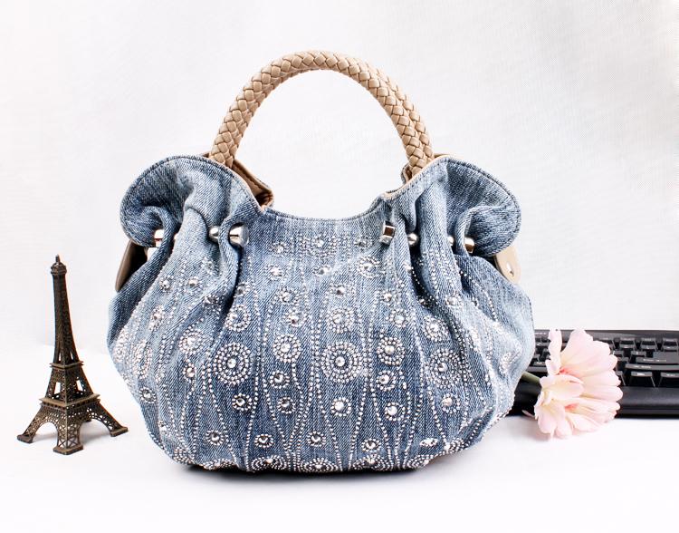 Get Quotations Free Shipping Fashion Las Jeans Handbag Women S Denim Shoulder Bag Branded Designer