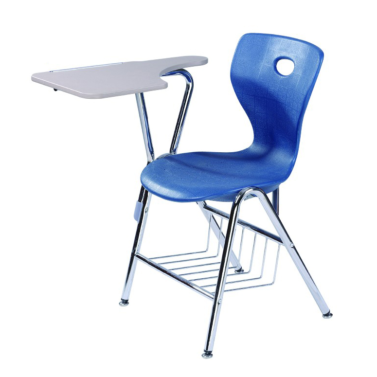 Plastic Blue School Chairs With Tablet Arm /armrest - Buy School ...