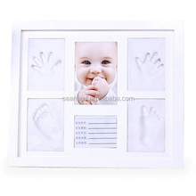 multifunction creative photo frame baby hand and foot ink and picture together
