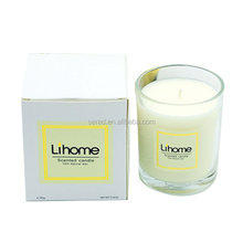 Luxury Home Decoration glass jar scented candles