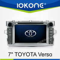 7 inch touch screen 2 din in dash dvd player with car gps navigation system bluetooth ipod for Toyota Verso