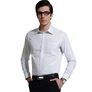 Garment dipping non ironing made to measure bespoke men's regular fit solid classic collar dress shirt