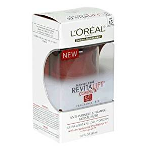 L'Oreal Advanced RevitaLift Complete Day Lotion, Fragrance-Free, 1.6-Ounce Tub