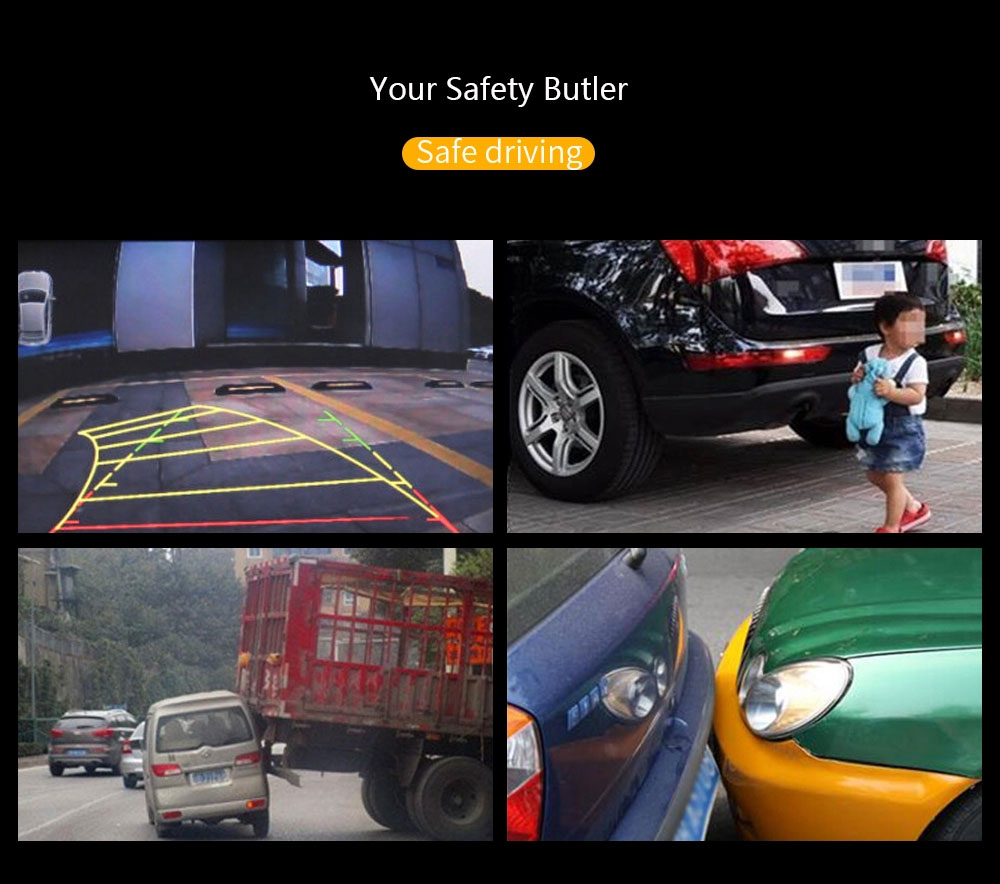 Full HD 1080P Cámara del Dvr del coche de espejo retrovisor de 4,3 pulgadas grabadora de Video Digital