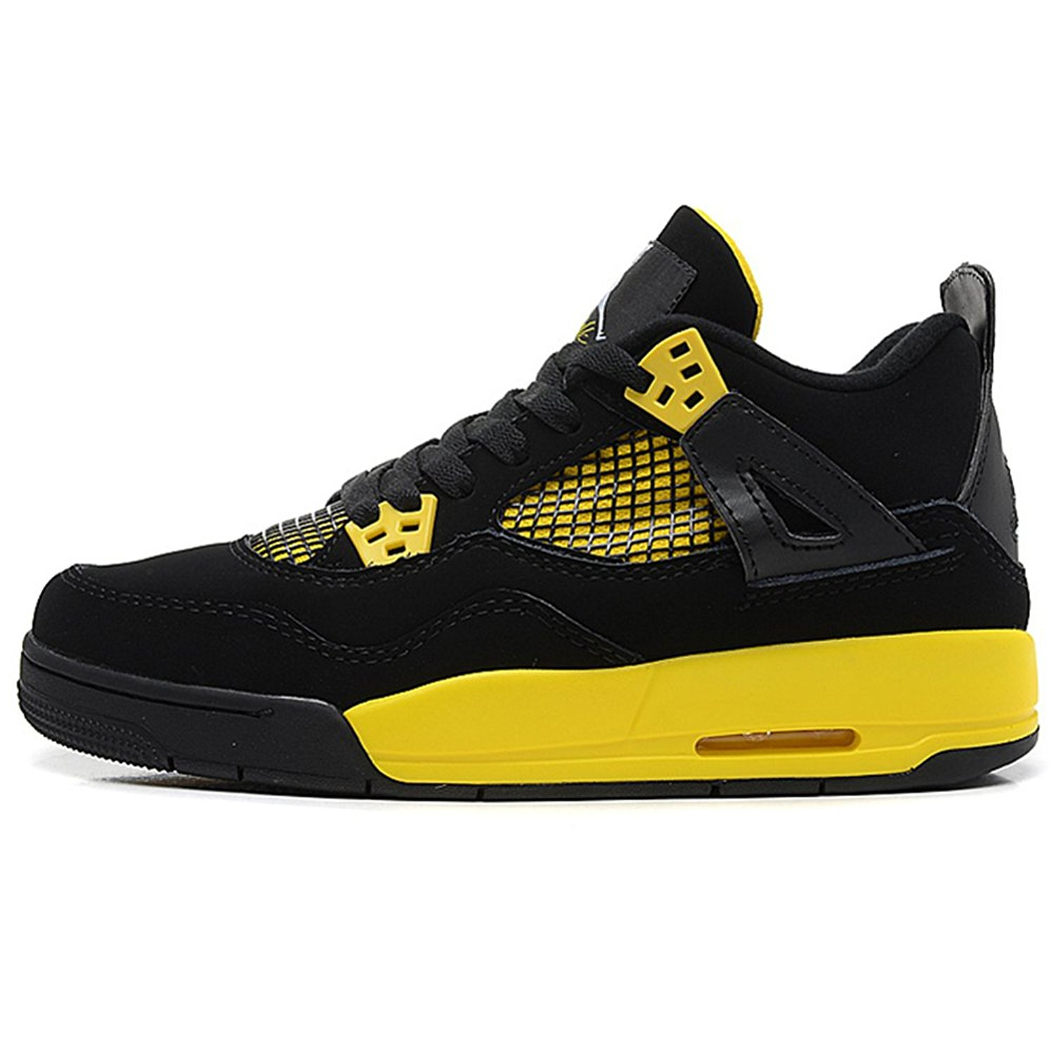 5b29d78d010 Get Quotations · TYCMG Jordan 4 Generations Jordan 4 Retro Thunder Black  Basketball Running shoe