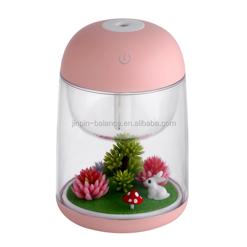 2018 New Micro Landscape Mini USB Humidifier with Colorful LED Light