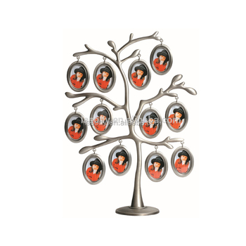 Zinc Alloy Family Tree Collage Photo Frame With Twelve Pewter ...
