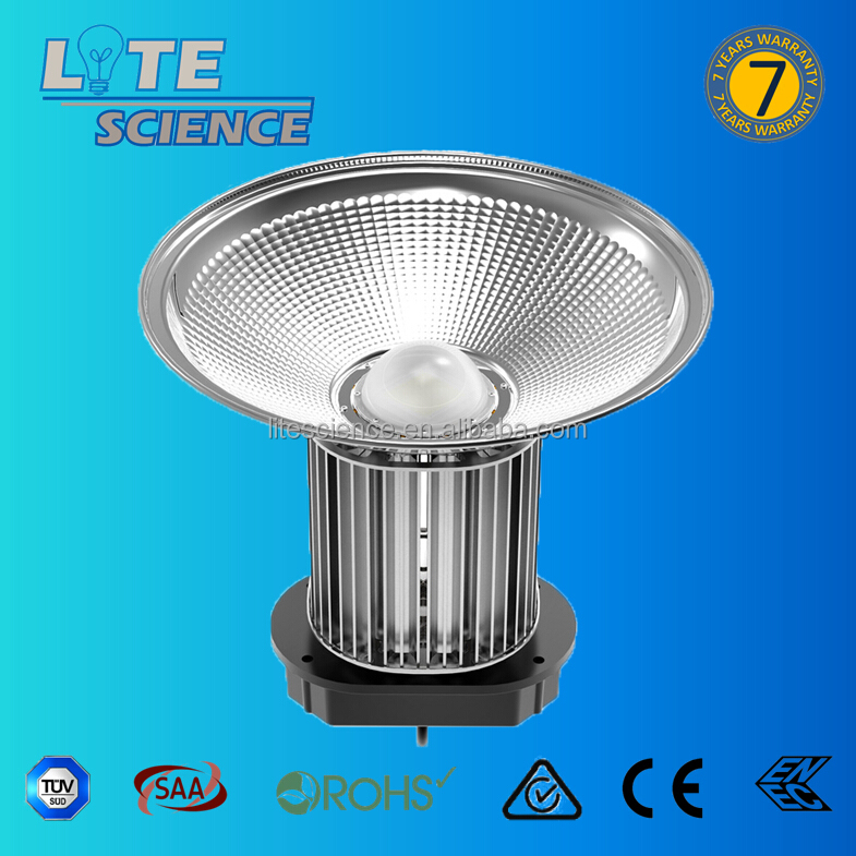 200W 125LM/W 7 years warranty highbay light, Meanwell HLG Driver, Lumileds 3030 LED, Own tooling housing with cooper inside