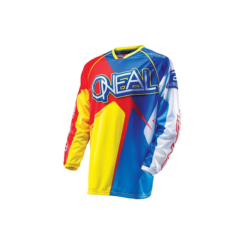 ONEAL O/'neal Hardwear MENS motocross jersey adult 2XL blu//red//yel 0018-106