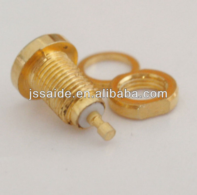 MMCX jack/female bulkhead RF connector