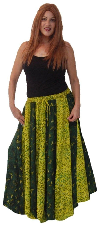 5f3855482e Get Quotations · Lotustraders Maxi Skirt Vertical Stripe Batik Boho R478