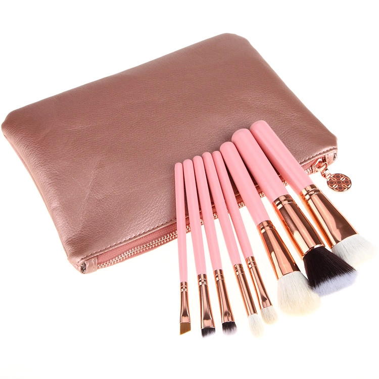 China Made Wholesale New Design Top Quality 8pcs Luxury Makeup Brush Set Professional