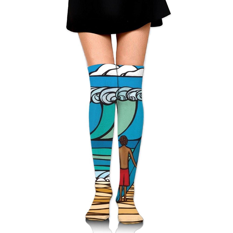 Zaqxsw Hawaii Women Vintage Thigh High Socks Cotton Socks For Ladies