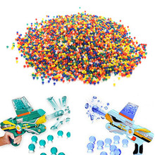 10000pc/lot Color Soft Crystal Bullet Water Gun Paintball Bullet Orbeez Gun Toy Nerf Bibulous Air Pisol Toy for Boy Children Kid